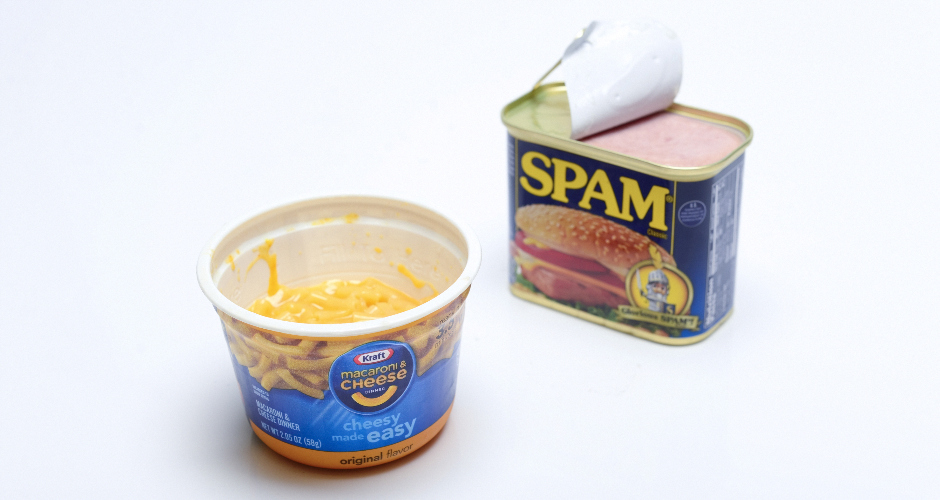 """Kids food #2: """"Mac and cheese with Spam—fuck a hot dog."""""""