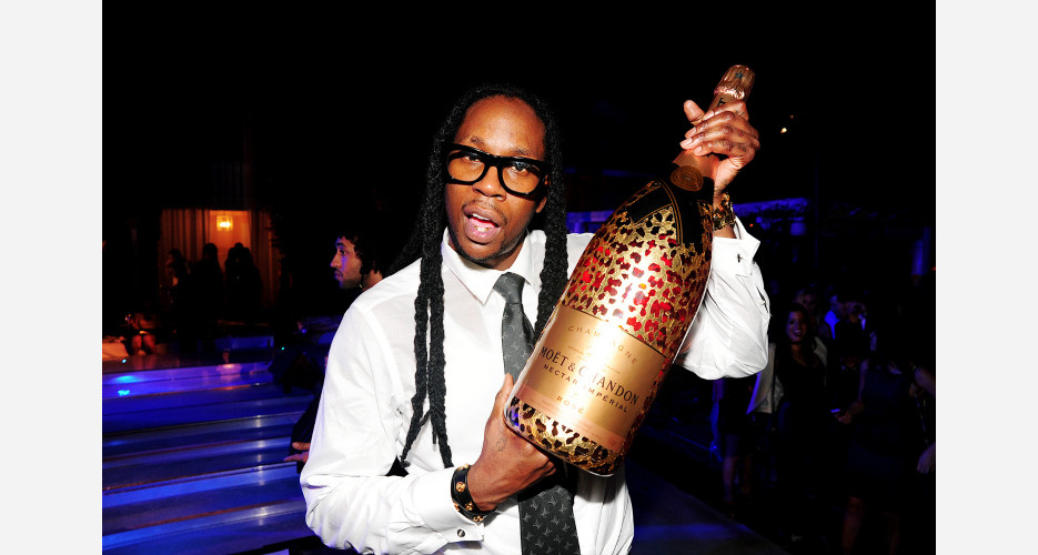 2 Chainz presents the new Moët rosé. Photo: KirillWasHere