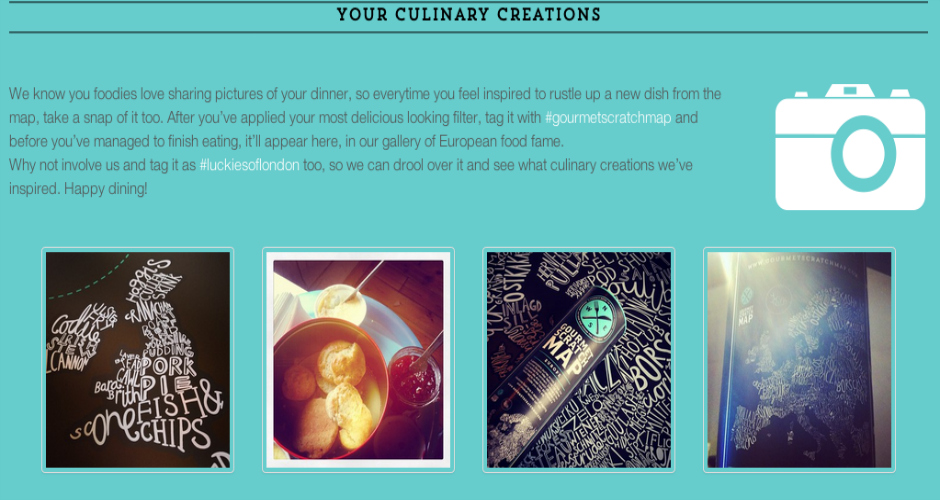 Photo: Gourmet Scratch Map