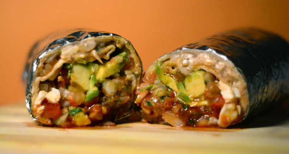 Mission Cantina burrito with al pastor and fermented pineapple (Photo: First We Feast/Achint Saxena)