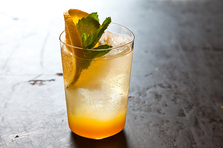 """Orange Ginger Mint Sodas. Donna always keeps it classy. When someones asks why you're drinking something so fussy, just follow her lead: """"Do I look like I drink water?"""""""