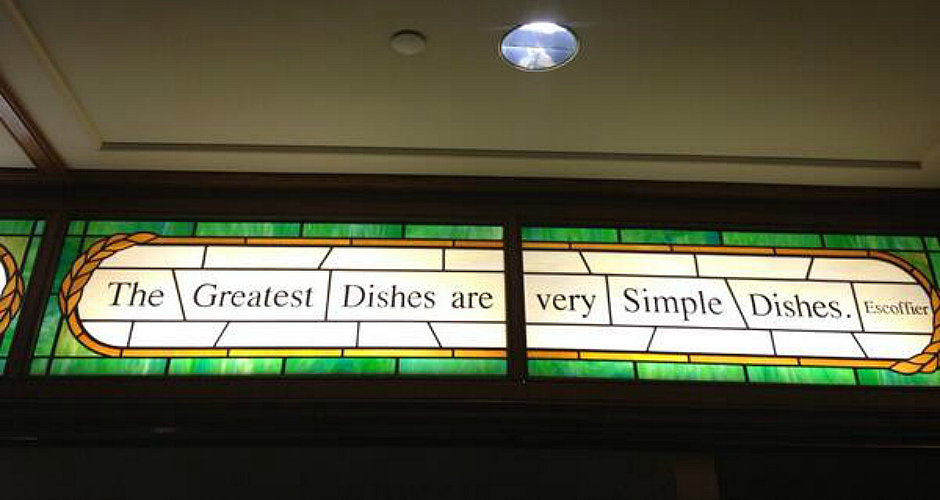 Lafayette chef Andrew Carmellini captures the wise words of famed French chef Auguste Escoffier. (Photo: Twitter)