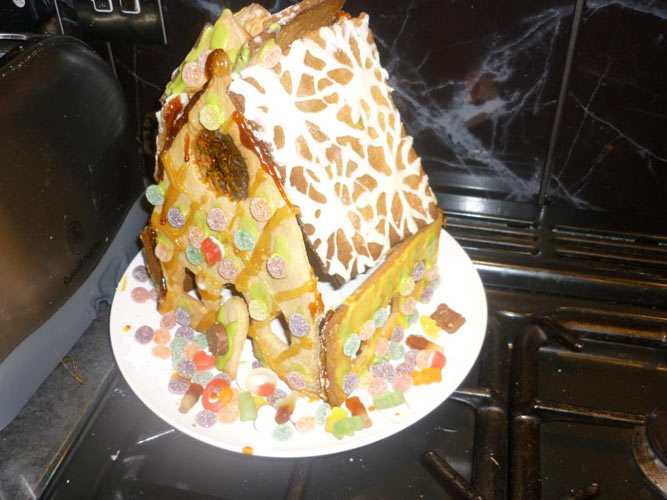 """Gingerbread Crack House"""