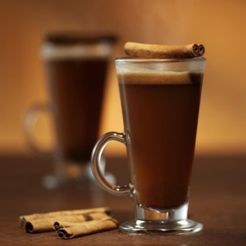 Hot Caramel Buttered Rum. It can be tough to pair drinks with decadent desserts. But as a general rule, when in doubt, match sweet with sweet. And this rich concoction, which includes a delicious batter that calls for both butter and brown sugar as well as vodka, is perfect with sugary holiday treats.
