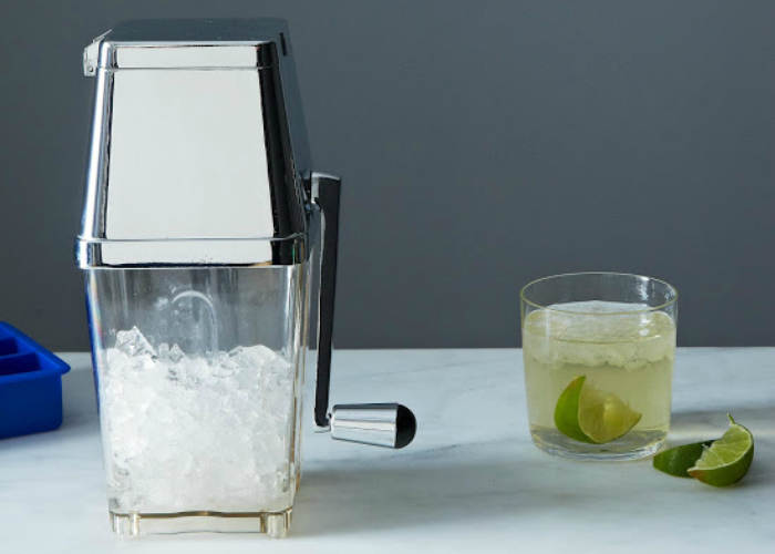 Rabbit Retro Ice Crusher.  Making frozen margaritas and daiquiris is no big deal with this original '50s ice crusher. This is a cocktail-party essential. $45.