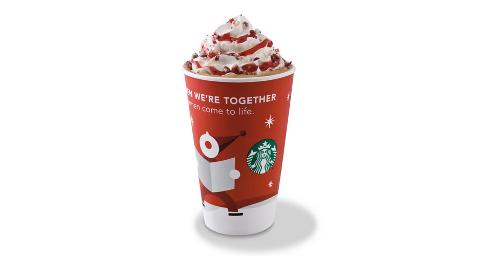STARBUCKS PEPPERMINT WHITE CHOCOLATE MOCHASo it's winter, and Starbucks just came out with its website.(Photo:
