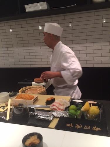 Chef Nakazawa at work (photo: Chris Schonberger/