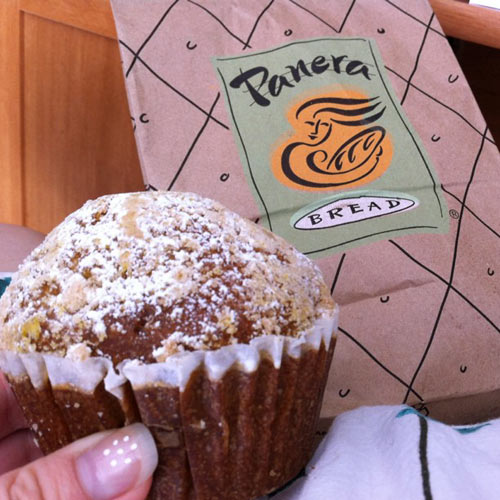 PANERA PUMPKIN MUFFINYou think: Oh, I'm going to be healthy and get a squash-based muffin for breakfast. Little do you know this inconspicuous muffin is basically cake; it contains 47g of sugar and 530 calories. If you're looking to be healthy, go make yourself some plain oatmeal or a bowl of fruit instead.(Photo: