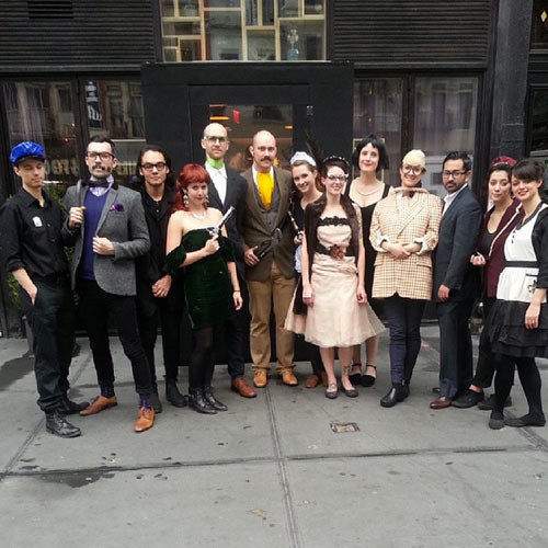 Best group chef Halloween costume goes to NYC restaurant Pearl and Ash. The whole kitchen team dressed as the cast of the movie Clue. Think they all killed each other off by the end of the night? (Photo: