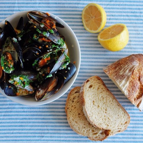 Nothing like a bowl of moules steamed with butter and wine in Paris. Photo: