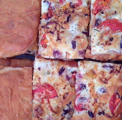 Fresh focaccia pizza is a gorgeous sight. Photo: