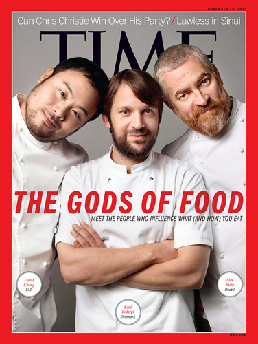 "The testosterone-heavy cover of Time's controversial ""Gods of Food"" issue (photo: Martin Schoeller for Time)"