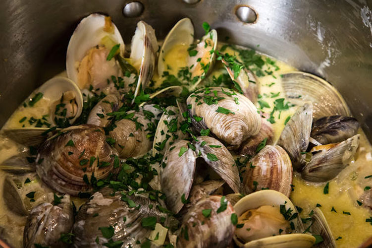 Drunken Clams with Sausage. Clams have an unlikely new soulmate: sausage. Add not one, but two types of white wine, a little tarragon and parsley, a splash of heavy cream, and the matchmaking is complete.