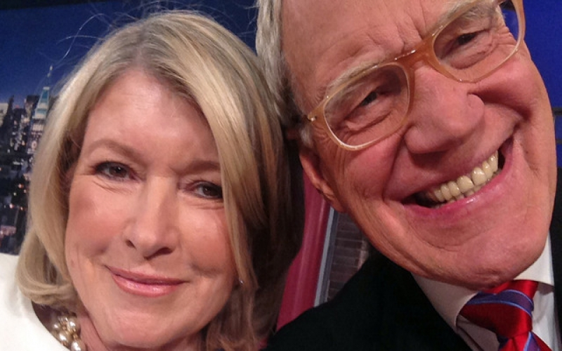 Social media guru Martha Stewart gave us a powerhouse of a selfie with Dave Letterman. Though Martha admits to never looking good in selfies, we think she looks great. Watch the full video of her spot on the Letterman show