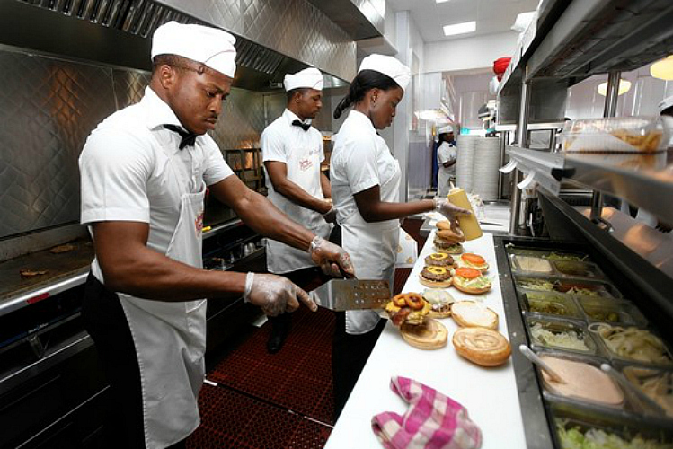 Johnny Rockets opened in Lagos, Nigeria (pictured) last year. (Photo: Associated Press)