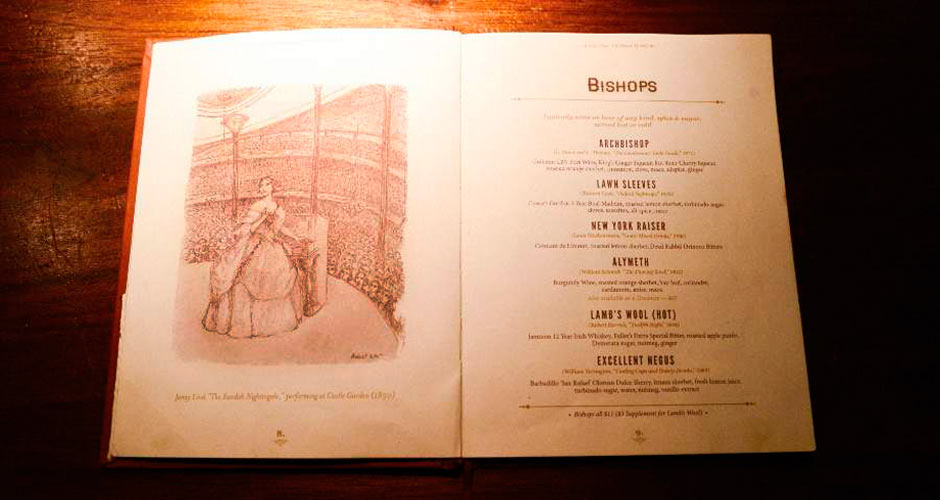 Time to cozy up by the fire with your warm beverage and a good 19th-century cocktail recipe book.