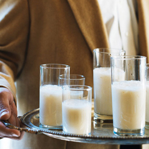 Timmy's Brandy Milk Punch. Planning a Yuletide brunch? Whip up this frothy New Orleans classic. It features brandy as well as milk, vanilla, powdered sugar, and nutmeg. It's the perfect addition to your waffles and eggs Benedict.