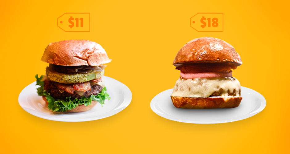 Which NYC burgers dominate their price category?