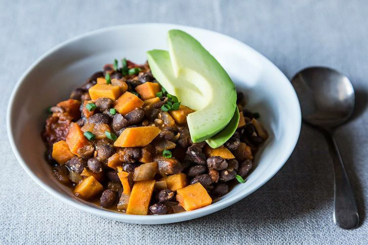 Smoky Black Bean and Sweet Potato Chili. Black beans and sweet potato ...