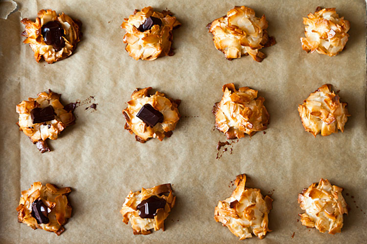 Alice Medrich's New Classic Coconut Macaroons. Chewy, gooey, crispy, crunchy, melt-in-your-mouth cookies that for anyone on your gift list.