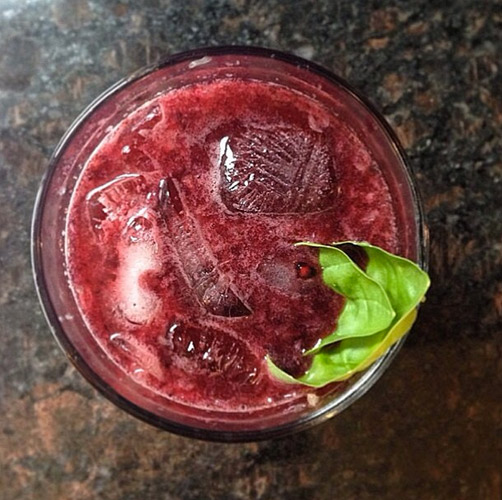 The ladies and gents over at Food & Wine Magazine continuously impress. This blackberry gin fiz with basil comes courtesy of