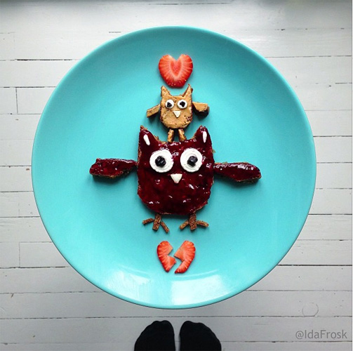 The year's Best Instagram Food-Art project/Best Socks Award goes to