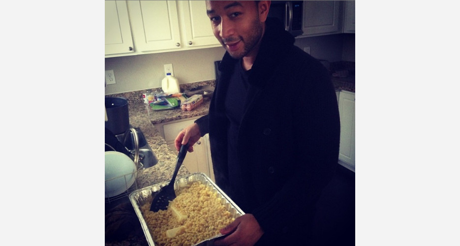 You're right, John Legend. It's Christmas, so why not use two sticks of butter? (Photo: Instagram)