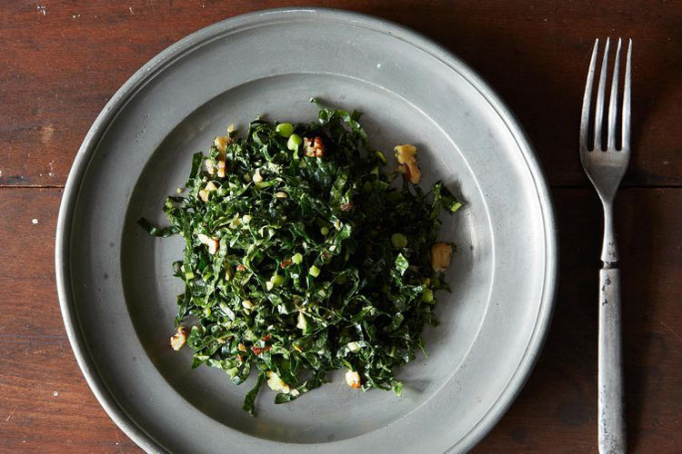Lacinato Kale and Mint Salad with Spicy Peanut Dressing. This salad has it all: sturdy greens that won't wilt, and a spicy peanut dressing that'll steal the show.