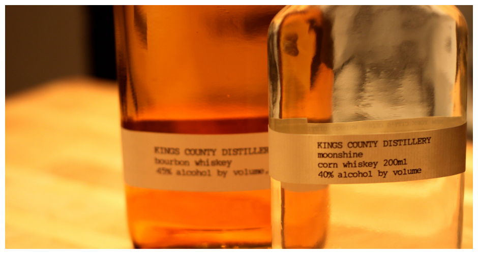 KINGS COUNTY DISTILLERY MOONSHINE You might recognize Kings County from their book, Guide to Urban Moonshining. This moonshine is no joke. Kings County uses New York grain and traditional practices to make moonshine that your ancestors would be proud of. Tastes: Pure, creamy, with and a hint of sweetness. Available at: Astor Wines.(Photo: Ramshackle Glam)