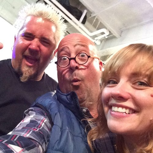 This is really special; a three-fer featuring Andrew Zimmern, Guy Fieri, and Molly Mogren. What more could you ask for? (Photo: