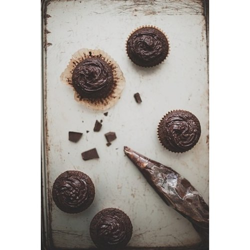 Pure, unadulterated chocolate cupcakes. Photo: