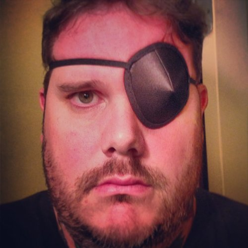 Sure, Matthew Jennings is a chef, but he's also a pirate. Or just a guy who has a corneal abrasion—but most likely a pirate. (Photo: