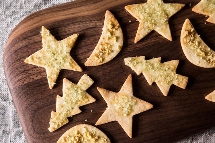 Holiday Cut-Out Cookies. These cookies improve with age, so it's a smart idea to make them at least two weeks before you'll want to eat them. This is also a healthy challenge—be strong!