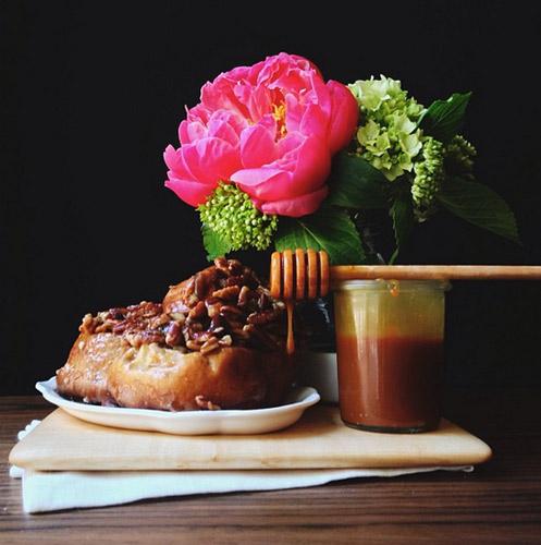 Caramel Sticky Buns in #vermeerlight. Photo: