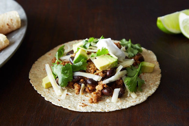 Coconut-Lime Pork Tacos with Black Beans and Avocado. A serious, toasted spice blend gives this pork major dimension, and the lime and pineapple juices take the depth of flavor even further. We love wrapping it up in tortillas with fresh cilantro, but it's almost too tempting to just intercept the transfer from pan to plate and get a big bite of the pork on its own.