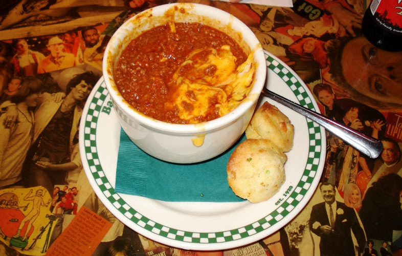 Bowl of chili at Barney's Beanery (Photo: