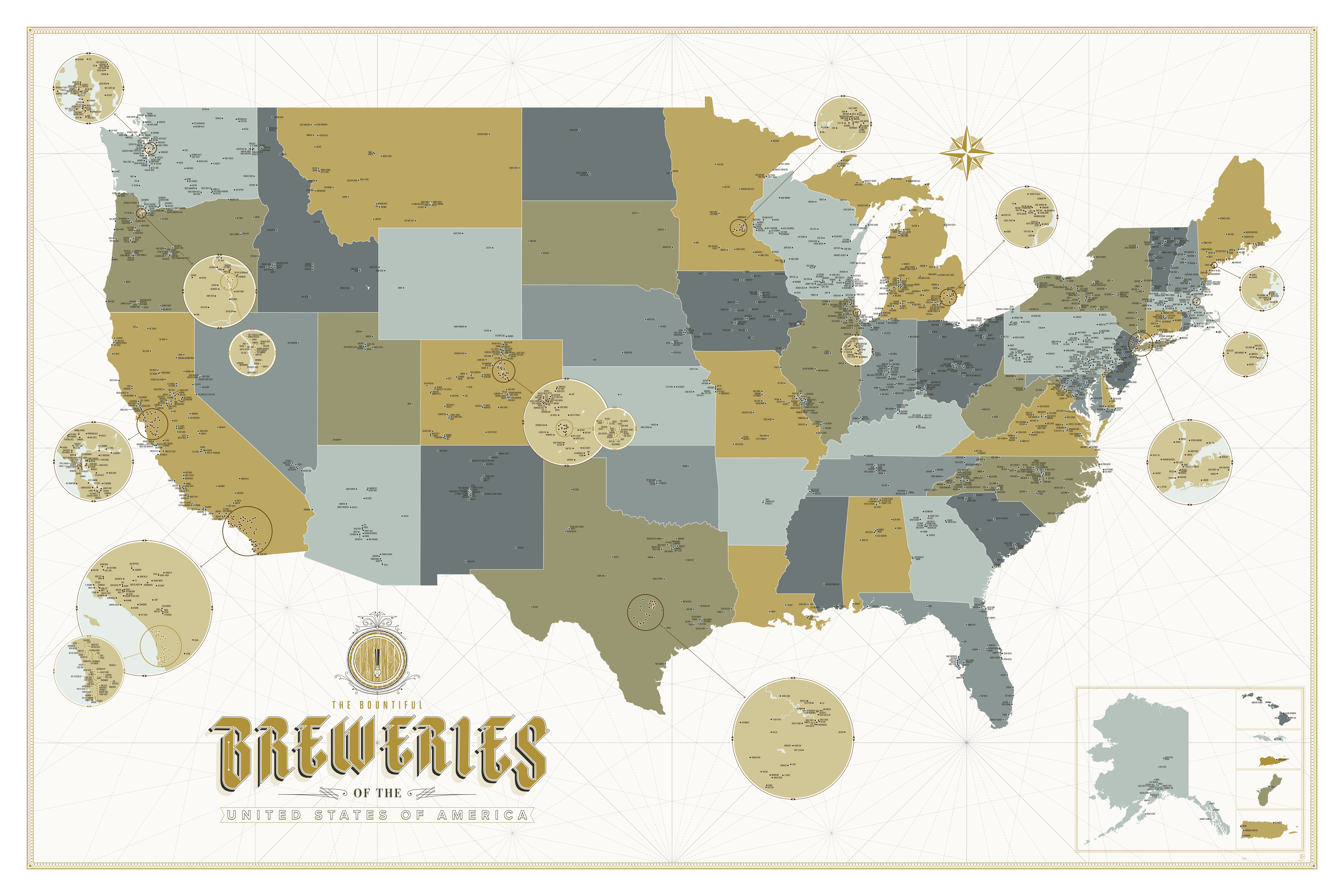 Craft Brewery Map Detailed Craft Brewery Map