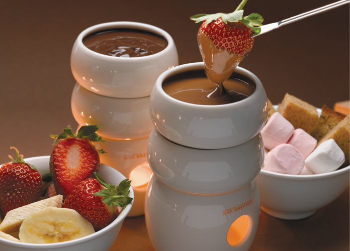 Strawberry chocolate fondue at Max Brenner (Photo: