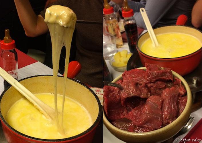 Steak fondue at Le Refuge des Fondus in Paris (Photo: