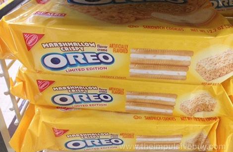 New Marshmallow Crispy Oreos.