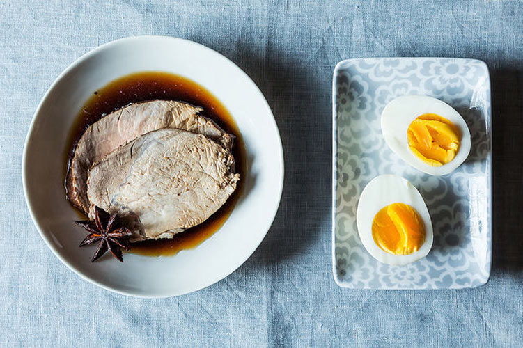 Charles Phan's Lo Soi Pork Shoulder. From Charles Phan of The Slanted Door comes this Vietnamese treasure: slowly simmered pork shoulder infused with plenty of spices and served with soft-boiled eggs.