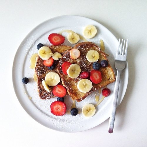 French toast and fresh fruit is all you'll ever need before noon. Ok, maybe coffee. Photo: