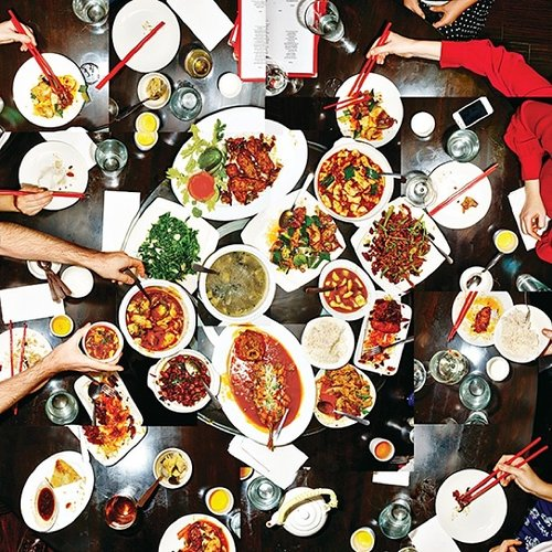 Serious feasting at Han Dynasty in NYC. Photo: