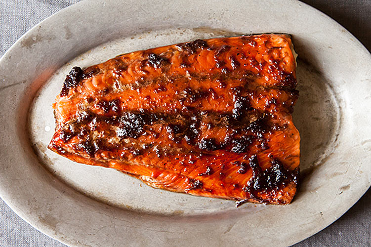Ginger-Soy Glazed Salmon. Low-temperature roasting keeps the salmon ...