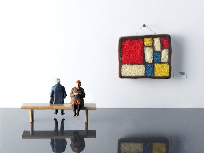 Edible Mondrian with prop styling by Lydia Brun (All photos via Slate)