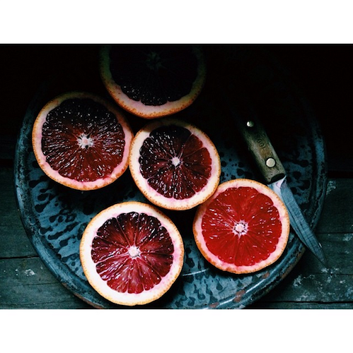 Grapefruit is photogenic on its own, but add a complementary background and this fresh winter snack practically pops off the screen. Photo: