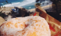 Doughnut, check. Beach, check. Can we go here now, please? Photo: @tressaeaton