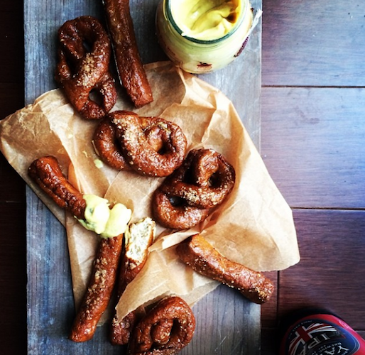 The Super Bowl brings out the best drunk food. Some go for wings, others go for beer pretzels. Photo: @cocktailpartychef