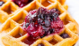 We want these buttermilk waffles with mixed berry and lemon preserves every day o