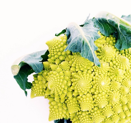 Is romanesco cauliflower the world's prettiest vegetable? Photo: @juliescyr